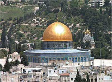 Dome of the Rock and the Al Aqsa mosque